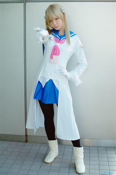 fetscom cosplay in pantyhose uniforms nylon blonde hair boots cosplay gloves maka albarn pantyhose
