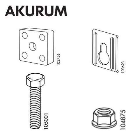 ikea akurum parts ikea akurum suspension rail set furnitureparts com