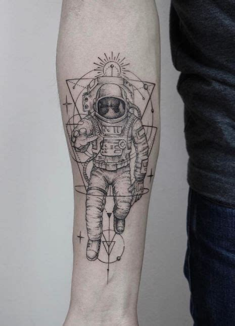 spaceman tattoo stunning astronaut black and gray tattoos