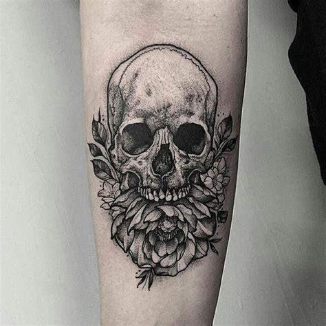 tattoo flash london skull peony tattoo by thomasbatestattoo in london u k