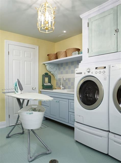 blue laundry room yellow and blue laundry room laundry lavanderia