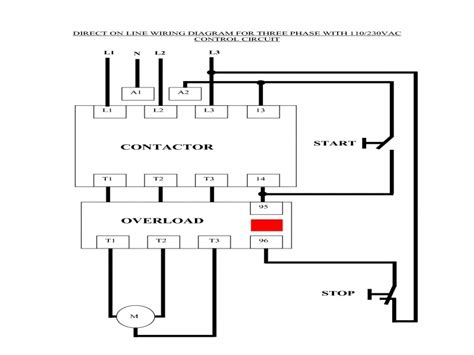component single phase motor starter circuit contactor