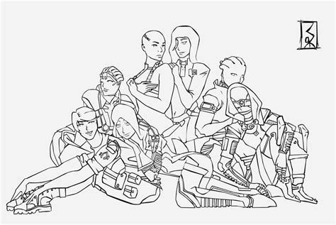 coloring book effect free mass effect line by idrawgirlz on deviantart