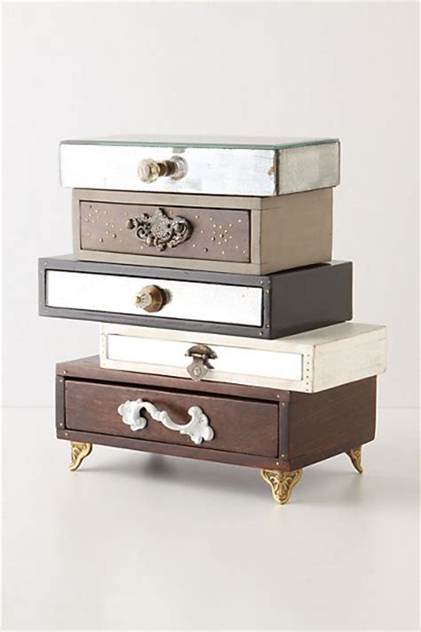 Jewellery Storage Drawers by Topsy Turvy Jewelry Box Eclectic Jewelry Boxes And