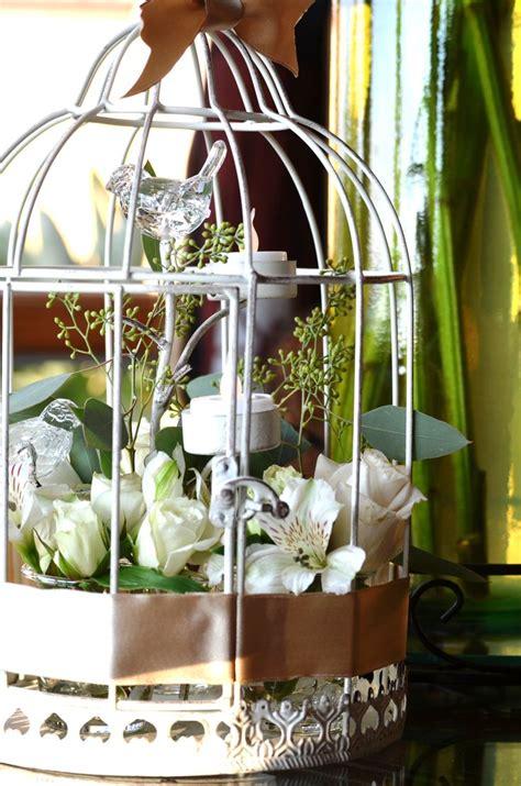 bird cage floral centerpiece florals pinterest
