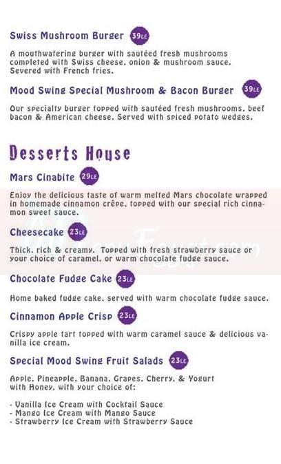 swing menu menu delivery hotline mood swing restaurant lounge