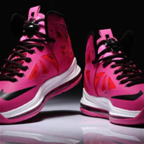 pink and black basketball shoes pink and black nike lebron 10 from airgriffeystores