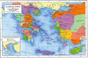 Map Of Classical Greece by Map Of Greece