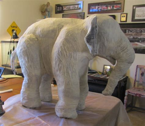 How To Make A Paper Mache Dinosaur Sculpture - linda s paper mache elephant ultimate paper mache
