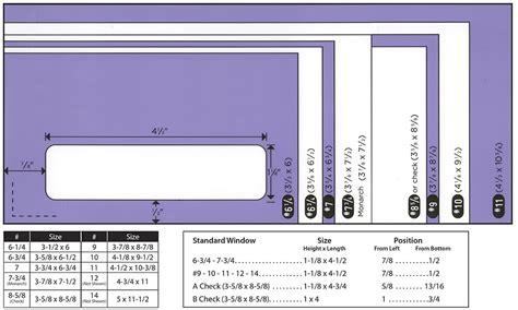 printable envelope guide envelope size chart