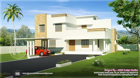 contemporary white home design home kerala plans