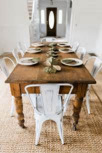 Farmhouse Dining Table And Chairs Best 25 White Farmhouse Table Ideas On Pinterest Farm Style Table Farmhouse Table With Bench
