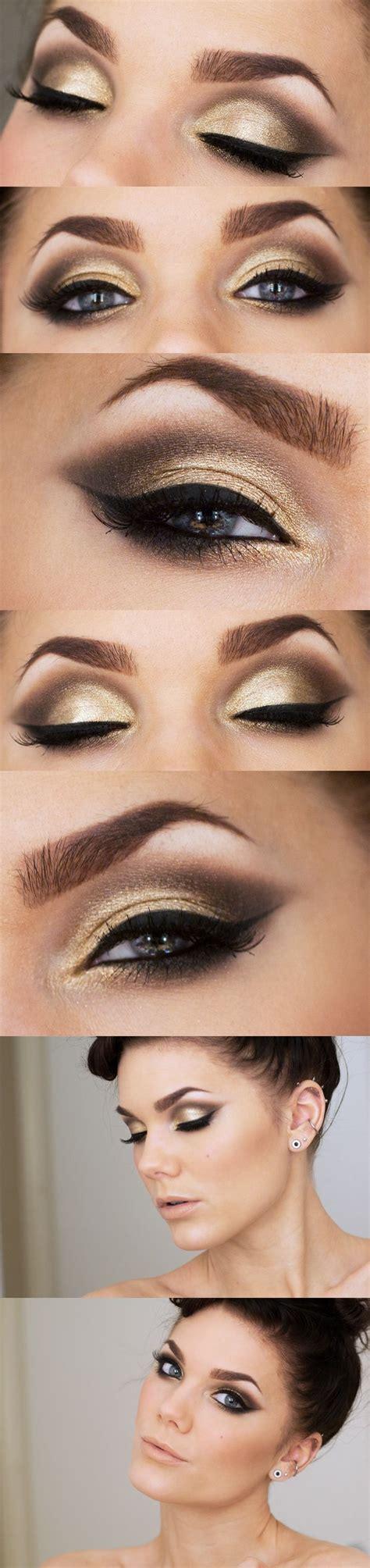 Eyeshadow Gold 10 gold smoky eye tutorials for fall pretty designs