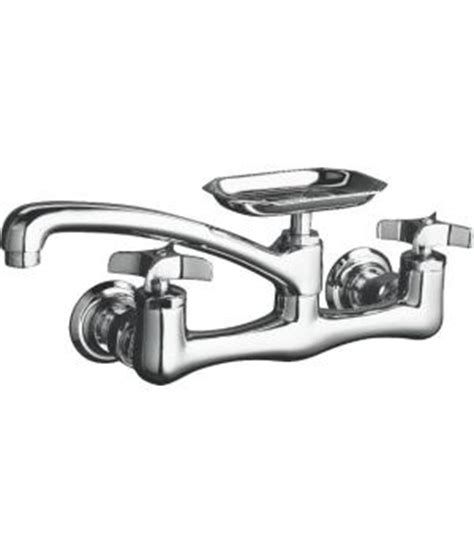 kohler wall mount kitchen faucet kohler k 7855 3 clearwater two handle wall mount kitchen