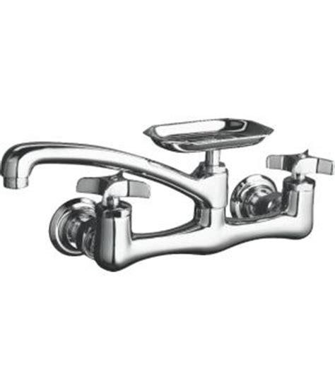 kohler k 7855 3 clearwater two handle wall mount kitchen