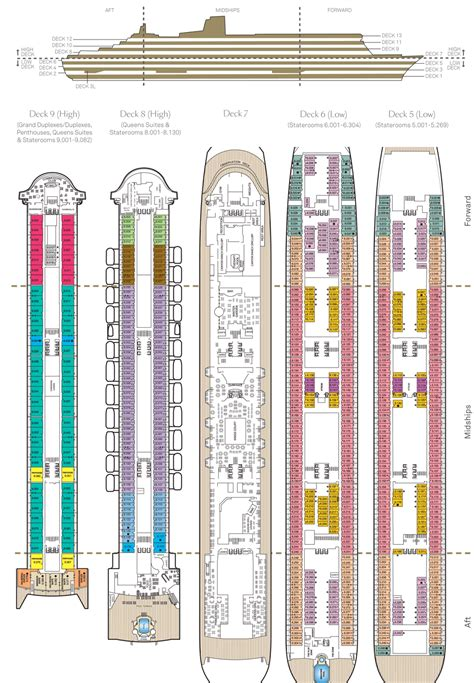 queen mary floor plan cunard