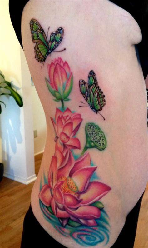 lotus tattoo side lotus side in progress by mallory swinchock tattoonow