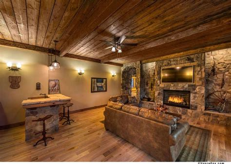 Home Designer Pro Fireplace by Rustic Great Room With Ceiling Fan Amp Crown Molding In