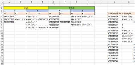 how to combine single and two column formats on the same excel merge values in multiple columns into one stack