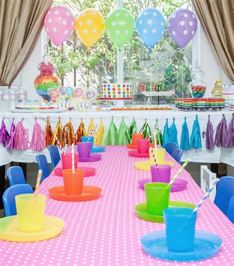 theme decoration rainbow party theme ideas miscellaneous nerd