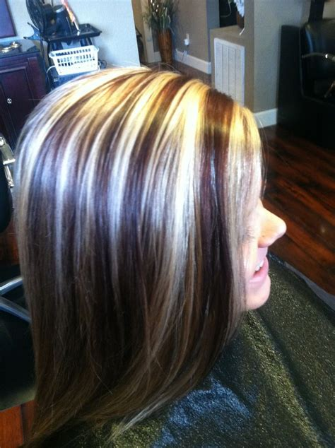 chunky high and lowlights highlights pictures 64 best images about hair colors on pinterest red blonde