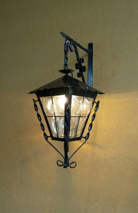 farol lampara fabricado en forja  vidrio soplado
