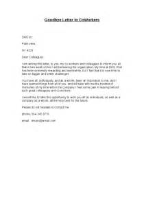 Farewell Letter To Colleagues Template by Goodbye Letter To Coworkers Hashdoc