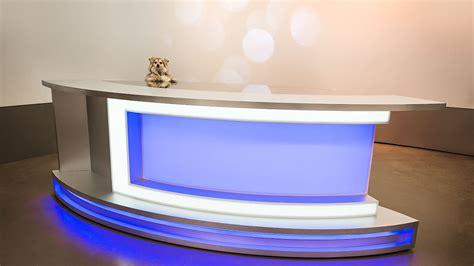 Anchor News Desk Tv Set Design Broadcast Furniture News Studio Desk