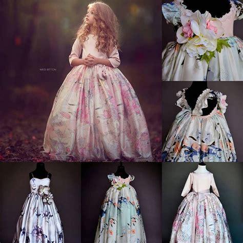 Pink Variety Flower Dress Dress Anak triant couture instagram photo by annatriantcouture