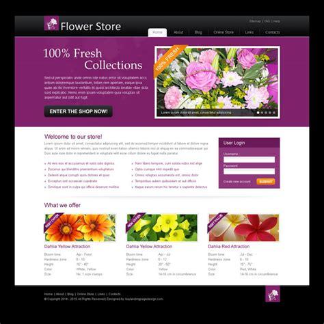 templates website buy online flower store attractive and creative website