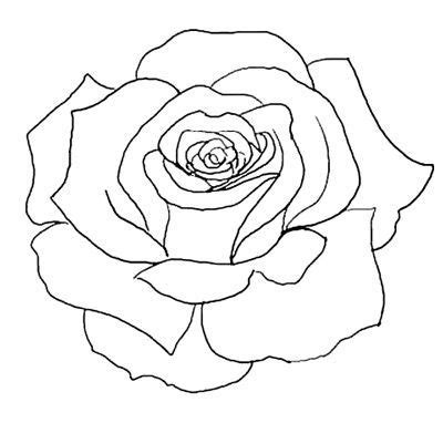 drawing pattern of rose best 25 rose outline ideas on pinterest simple rose