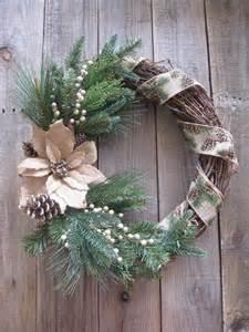 Rustic Burlap Christmas Wreath