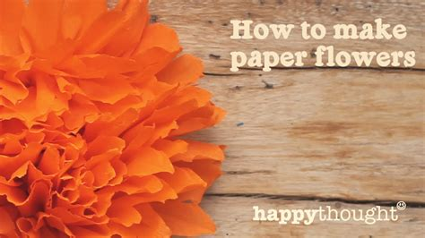 How To Make Paper Plants - how to make a mexican paper flower for day of the dead