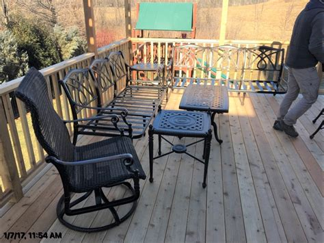 Grand Terrace Patio Furniture by Delivery Installation Of Gensun Grand Terrace Patio