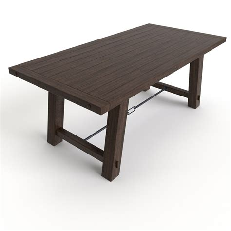 Benchwright Fixed Dining Table Free Dining Table Benchwright Fixed 3d Model