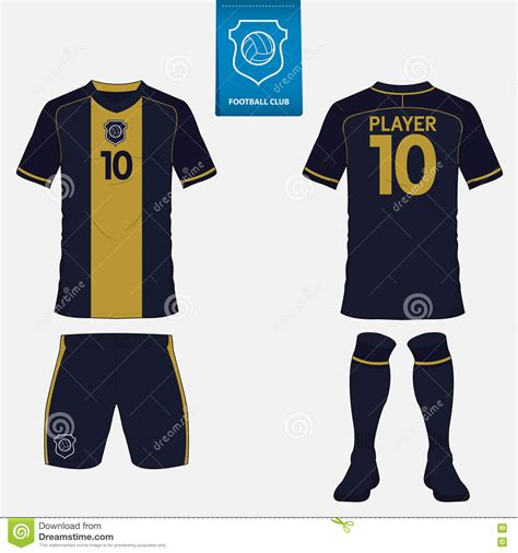 free design jersey soccer set of soccer jersey or football kit template front and
