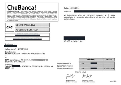 Conto Banco Posta Impresa On Line by Ricevuta Contabile Iannas