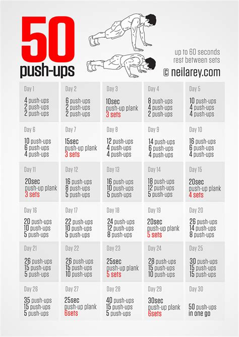 30 day 50 pushups challenge home exercise