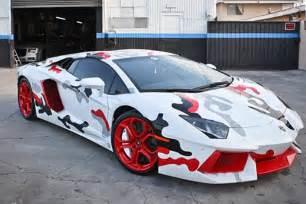 Lamborghini Aventador Camouflage E Tv Sport Sportlights Assortir Ses Nikes 224 Sa