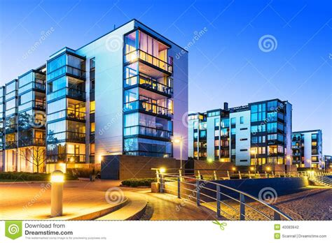 modern house real estate modern real estate stock photo image 40083842