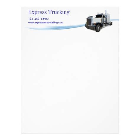 trucking company letterhead templates trucking company custom letterhead
