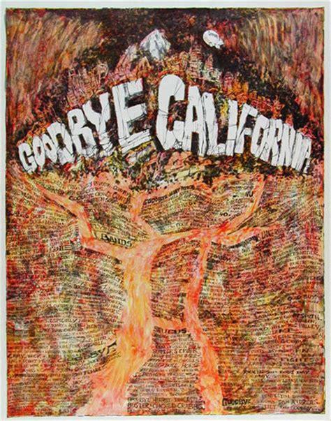 william whitaker vintage original  goodbye california poster