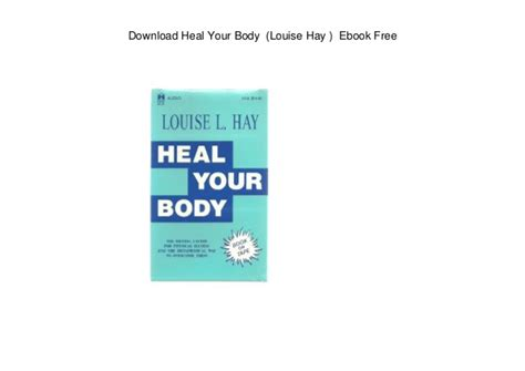 Download Heal Your Body Louise Hay Ebook Free