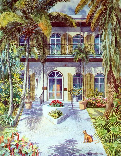 artist house key west hemingway house in key west art by george k salhofer