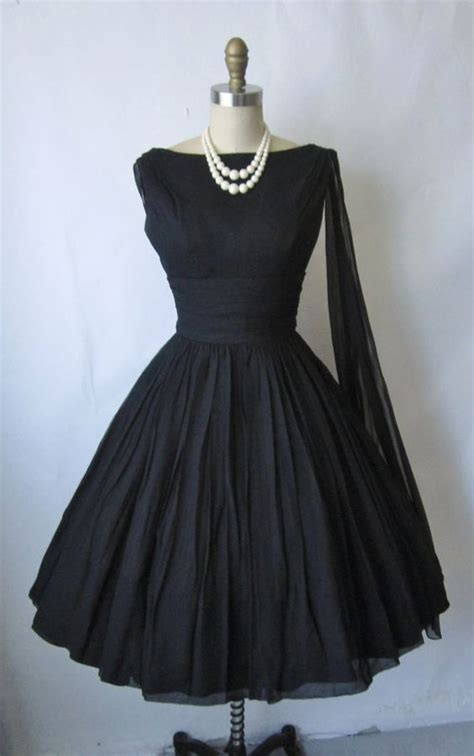 chagne colored cocktail dress 50 s cocktail dress vintage 1950 s black chiffon