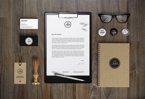 free mock up branding identity mockup vol 7 graphicburger