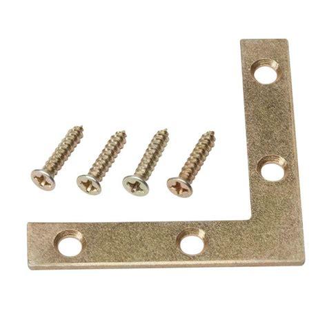 everbilt 2 1 2 in satin brass flat corner brace 4 pack