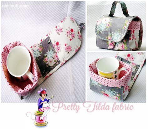 Mug Bags Patchwork Pattern - free pattern from brolly for a mug bag with pocket for