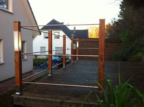 Treppengeländer Selber Bauen Stahl by Terrassengel 228 Nder Selber Bauen Garten Terrasse Selber