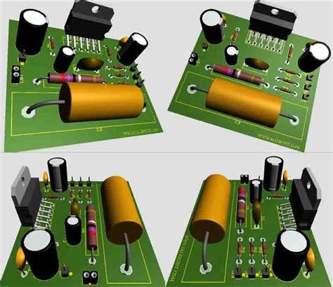 Power Gainclone Lm3886 Stereo parallel gainclone power lifier lm3886 electronic circuit